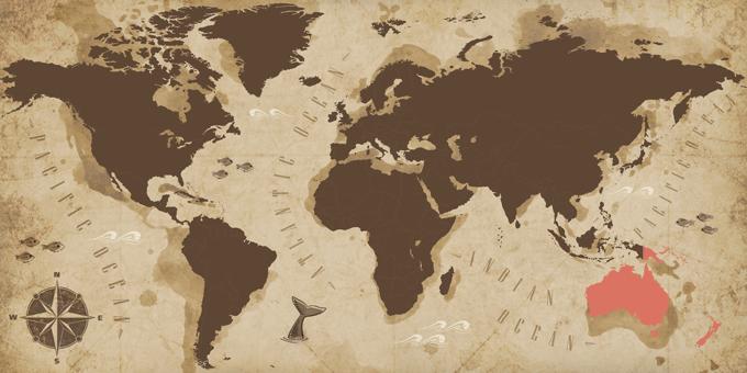 Oceania - Map