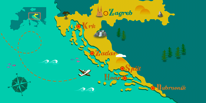 Croatia - Map