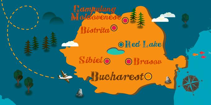 Romania - Map