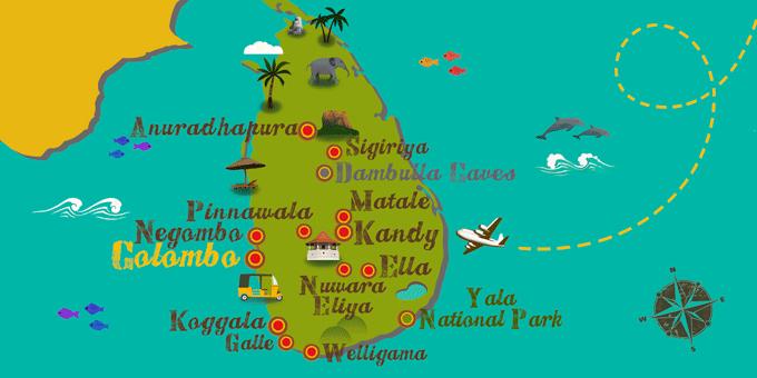 Sri Lanka - Map
