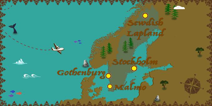 Sweden - Map