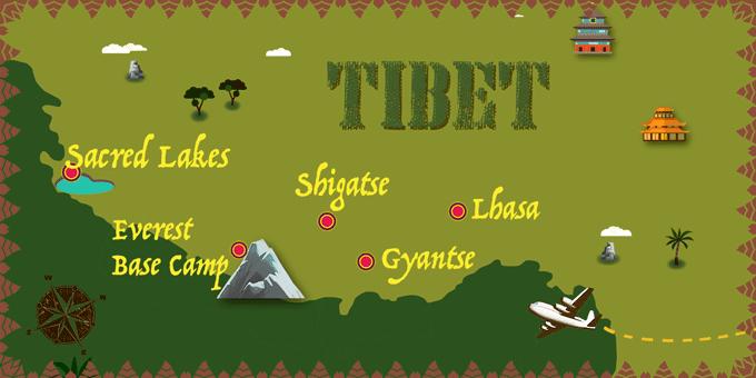 Tibet - Map