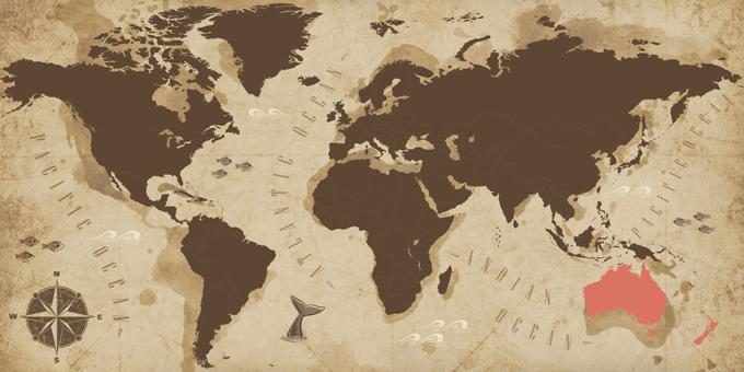 Australia and New Zealand - Map