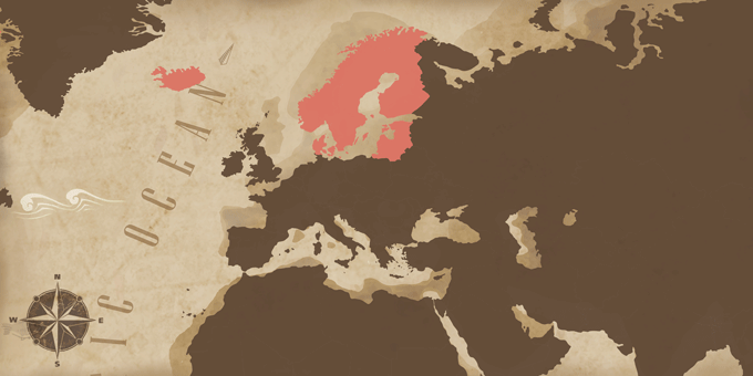 Scandinavia and the Baltic States - Map